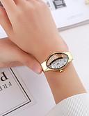 hesapli Saatler-Kadın's Elbise Saat Quartz Gündelik Saatler Analog Klasik - Siyah Altın Gümüş