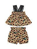 זול אוברולים טריים לתינוקות-סט של בגדים ללא שרוולים פרחוני בנות תִינוֹק