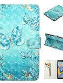 halpa Samsung Case-Etui Käyttötarkoitus Samsung Galaxy Tab A2 10.5 (2018) T595 T590 / Tab S2 9.7 / Tab E 9.6 Lomapkko / Korttikotelo / Iskunkestävä Suojakuori Perhonen Kova PU-nahka