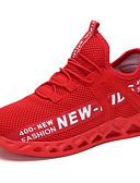 זול חולצה-בנות נוחות Flyknit נעלי אתלטיקה ילדים קטנים (4-7) / ילדים גדולים (7 שנים +) הליכה לבן / שחור / אדום אביב / סתיו