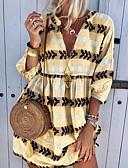 povoljno Mini suknje-Žene Majica Haljina Prugasti uzorak Mini