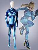 halpa Zentai-Cosplay-Asut Supersankarit Lasten Lycra® Cosplay-asut Yksiosainen Footless Tights Sininen 3D