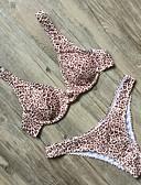 hesapli Bikiniler ve Mayolar-Kadın's Haki Bikiniler Mayolar - Leopar S M L Haki