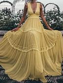 זול שמלות NYE-מקסי קפלים שמלה סווינג בוהו בגדי ריקוד נשים