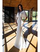 זול שמלות ערב-גזרת A צלילה שובל סוויפ \ בראש פוליאסטר ערב רישמי שמלה עם פרטים מקריסטל על ידי LAN TING Express