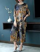 hesapli İki Parça Kadın Takımları-Kadın's Boho / sofistike Uzun Set - Desen, Çiçekli / Geometrik / Gökküşağı Pantolon