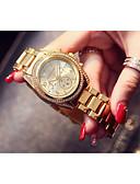 זול שעונים קוורץ-בגדי ריקוד נשים קווארץ פאר אופנתי כסף זהב זהב ורד מתכת אל חלד קווארץ זהב כסף זהב ורד לוח שנה 30 m יחידה 1 אנלוגי שנה אחת חיי סוללה