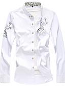 hesapli Gömlekler-Erkek Gömlek Solid Çin Stili Siyah