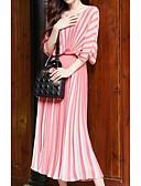hesapli Romantik Dantel-Kadın's Temel Kılıf Elbise - Çizgili Maksi