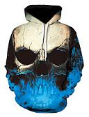 povoljno Muške majice s kapuljačom i trenirke-Muškarci Ležerne prilike / Ulični šik Hoodie Geometrijski oblici / 3D / Lubanje