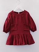 זול סטים של ביגוד לתינוקות-שמלה שרוול ארוך אחיד בנות תִינוֹק