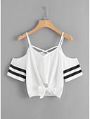 hesapli Kadın Atletleri ve Kombinezonları-Kadın's Askılı Salaş - Kısa Paltolar Solid Beyaz
