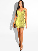 ieftine Tricou-Pentru femei Bodycon Teacă Rochie Leopard Mini