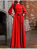 hesapli Maksi Elbiseler-Kadın's Temel Kılıf Elbise - Solid, Fiyonklar Bağcık Maksi