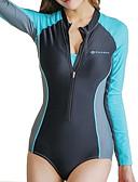 halpa Märkäpuvut, sukelluspuvut ja suoja-asut-JIAAO Naisten Skin-tyyppinen märkäpuku Sukelluspuvut Pidä lämpimänä UV-aurinkosuojaus Pitkähihainen Etuvetoketju Boyleg - Uinti Yhtenäinen Syksy Kevät Kesä / Elastinen
