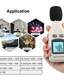 זול מטען כבלים ומתאמים-10pcs / lot רמת צליל דיגיטלי מטר מטר הבוחן gm1351 דסיבל לוגר בודק 30-130db noisemeter בדציבלים db מטר