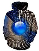 hesapli Erkek Kapşonluları ve Svetşörtleri-Erkek Günlük / Sokak Şıklığı Kapüşonlu Giyecek - Zıt Renkli / 3D