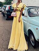 hesapli Gelin Annesi Elbiseleri-Kadın's Kılıf Elbise - Solid Maksi