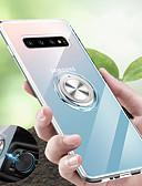 זול מגנים לטלפון-מגן עבור Samsung Galaxy S9 / S9 Plus / S8 Plus עמיד בזעזועים / עם מעמד / מחזיק טבעת כיסוי אחורי שקוף רך TPU