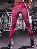 זול טייצים-בגדי ריקוד נשים ספורט Temel צועד - דפוס, דפוס מותן בינוני אודם S M L / רזה