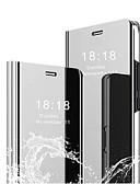 Недорогие Чехол для умных часов-Кейс для Назначение Huawei P10 Plus / P10 Lite / P10 Покрытие / Зеркальная поверхность / Авто Режим сна / Пробуждение Чехол Однотонный Твердый ПК