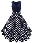 povoljno Vintage kraljica-Cvijetan Vintage Haljine Žene Kostim Obala / Plava / Navy Plava Vintage Cosplay Ulica Plus veličine Bez rukávů Midi A-kroj Veći konfekcijski brojevi