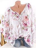 povoljno Majica s rukavima-Bluza Žene Dnevni Nosite / Zabava i večer Geometrijski oblici V izrez Širok kroj Obala