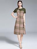 povoljno Haljine za NG-Žene Vintage A kroj Haljina - Kolaž, Geometrijski oblici Do koljena