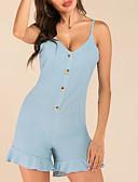 baratos Bikinis-Mulheres Activo / Básico Azul Macacão, Sólido Frente Única M L XL