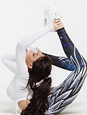 hesapli Gömlek-Kadın's Yoga Pantolonları Spor Dalları Zıt Renkli Tozluklar Koşma Fitness Spor Salonu Egzersizi Aktif Giyim Hafif Miękki Direnç Taytı İnce