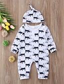 זול אוברולים טריים לתינוקות-מקשה אחת One-pieces שרוול ארוך גיאומטרי / דפוס בנים תִינוֹק 2pcs