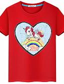 povoljno Majice za djevojčice-Djeca Djevojčice Osnovni Geometrijski oblici Kratkih rukava Majica s kratkim rukavima Red