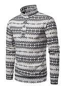 hesapli Erkek Ceketleri ve Kabanları-Erkek Solid Uzun Kollu Hırka, Yüksek Yaka Sonbahar / Kış Beyaz / Siyah US38 / UK38 / EU46 / US40 / UK40 / EU48 / US42 / UK42 / EU50
