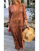 povoljno Maxi haljine-Žene Shift Haljina Geometrijski oblici Duboki V Maxi