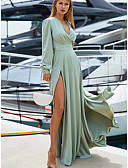 hesapli Maksi Elbiseler-Kadın's Boho Kılıf Elbise - Solid, Bölünmüş Kırk Yama Maksi