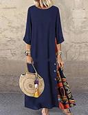hesapli Maksi Elbiseler-Kadın's Çan Elbise - Geometrik Maksi