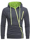 זול טרנינגים וקפוצ'ונים לגברים-עם קפוצ'ון אחיד Jacket hoodie בסיסי בגדי ריקוד גברים