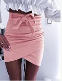 abordables Jupes-Femme Sexy Mini Moulante Jupes - Couleur Pleine Multirang Blanche Rouge Kaki L XL XXL