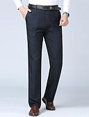 hesapli Pantolonlar-Erkek Temel Takım Elbise Pantolon - Solid Siyah Açık Gri Gri US34 / UK34 / EU42 US36 / UK36 / EU44 US38 / UK38 / EU46