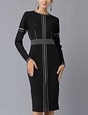 זול שמלות במידות גדולות-עד הברך גיאומטרי - שמלה נדן בסיסי בגדי ריקוד נשים