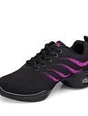 זול מחוכים ובוסטייה-בגדי ריקוד נשים נעלי ריקוד סריגה סניקרס לריקוד נעלי ספורט עקב עבה מותאם אישית לבן / שחור / הצגה / אימון