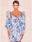 זול שמלות ערב-מעל הברך גיאומטרי - שמלה נדן בגדי ריקוד נשים