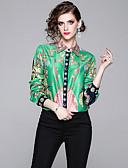 hesapli Maksi Elbiseler-Kadın's Gömlek Desen, Ekose Vintage / Zarif Yonca
