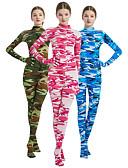 povoljno Zentai odijela-Zentai odijela s uzorkom Cosplay Nošnje Catsuit Odrasli Spandex Lycra Cosplay Nošnje Muškarci Žene Žad / Plava / Pink kamuflaža Halloween Karneval Maškare / Odijelo za kožu / Visoka elastičnost