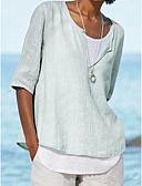 billige Skjorte-Dame - Ensfarvet Basale Skjorte Lyseblå