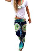 hesapli Kadın Pantolonl-Kadın's Boho Geniş Bacak Pantolon - Desen Desen Gökküşağı S M L