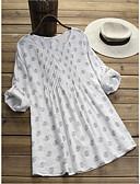 hesapli Print Dresses-Kadın's Vintage Temel A Şekilli Elbise - Geometrik, Desen Diz üstü