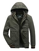זול מעילי פוך ופרקה לגברים-US34 / UK34 / EU42 / US36 / UK36 / EU44 / US38 / UK38 / EU46 שחור / ירוק צבא / חאקי כותנה, מרופד רגיל רגיל אחיד בגדי ריקוד גברים