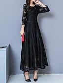 hesapli Romantik Dantel-Kadın's Zarif A Şekilli Elbise - Geometrik, Dantel Maksi