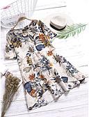 hesapli Print Dresses-Kadın's Vintage Temel A Şekilli Elbise - Çiçekli, Desen Diz üstü